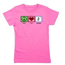 Peace Love Lacrosse Girl's Tee