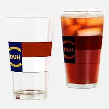 North Carolina DUH Flag Drinking Glass