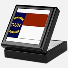 North Carolina DUH Flag Keepsake Box