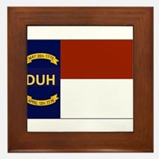 North Carolina DUH Flag Framed Tile