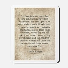 Ronald Reagan Mousepad