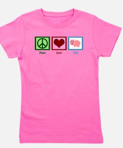 Peace Love Pigs Girl's Tee