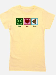 Peace Love Horses Girl's Tee