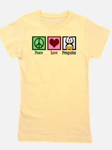 Peace Love Penguins Girl's Tee
