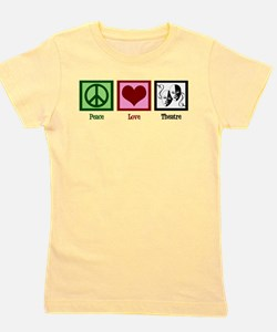 Peace Love Theatre Girl's Tee