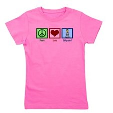 Peace Love Lifeguard Girl's Tee