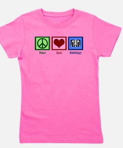 Peace Love Radiology Girl's Tee