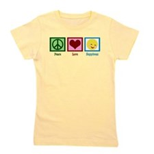 Peace Love Happiness Girl's Tee