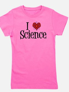 I Love Science Girl's Tee