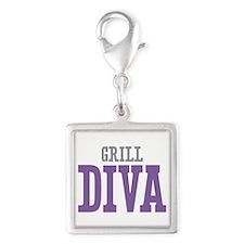 Grill DIVA Silver Square Charm