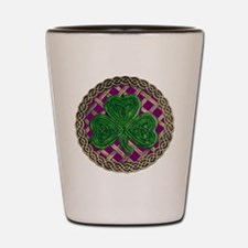 Shamrock And Celtic Knots Shot Glass
