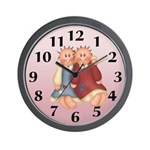 Country Dolls Wall Clock
