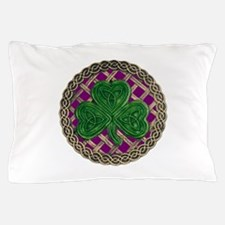 Shamrock And Celtic Knots Pillow Case