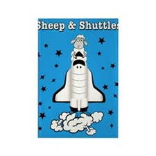 Cute Sheep and shuttles Rectangle Magnet