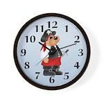 Pirate Bear Wall Clock