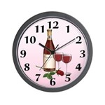 Wedding Wine Wall Clock