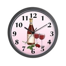 Wedding Wine Wall Clock