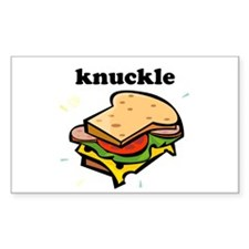 Knuckle Sandwich Rectangle Decal