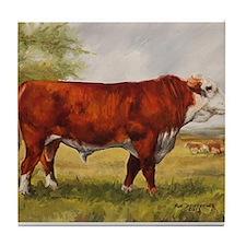 Hereford Bull The Champion Tile Coaster