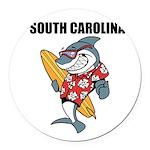 South Carolina Round Car Magnet