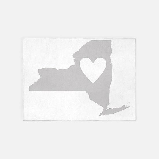 Heart New York 5'x7'Area Rug