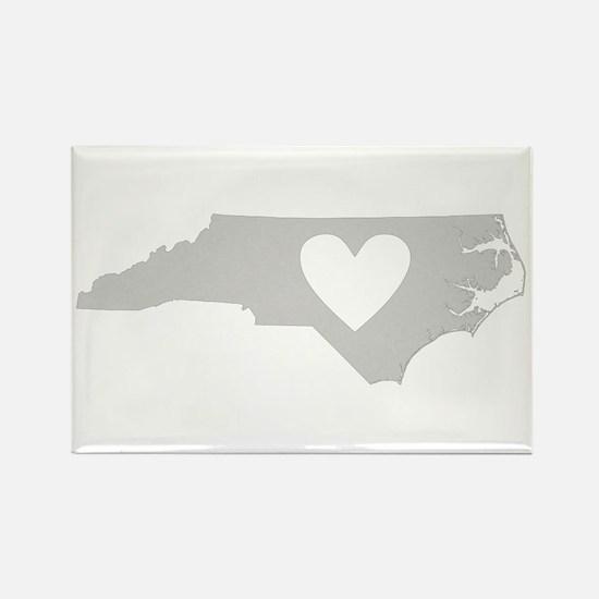 Heart North Carolina Rectangle Magnet