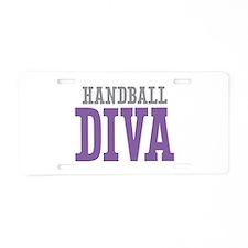 Handball DIVA Aluminum License Plate