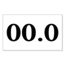 00.0 Bumper Stickers