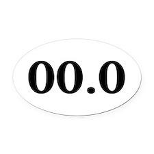 00.0 Oval Car Magnet