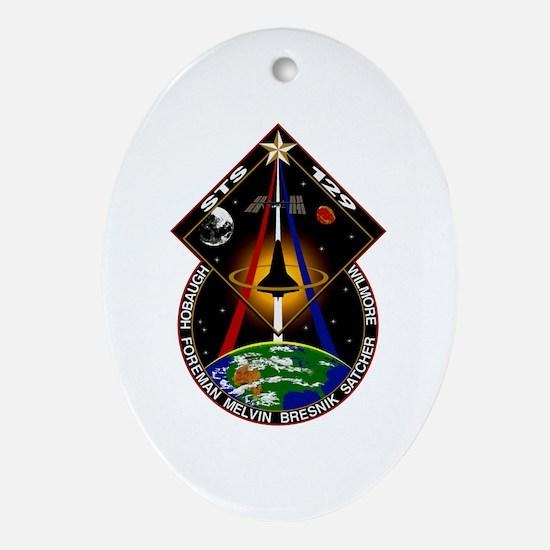 STS-129 Print Oval Ornament