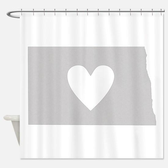 Heart North Dakota Shower Curtain