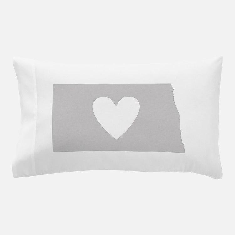 Heart North Dakota Pillow Case