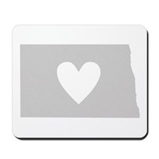 Heart North Dakota Mousepad