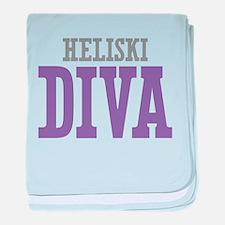 Heliski DIVA baby blanket