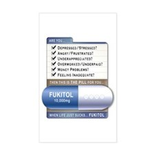 Fukitol Rectangle Decal