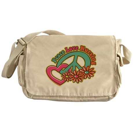 Peace Love Nursing Messenger Bag