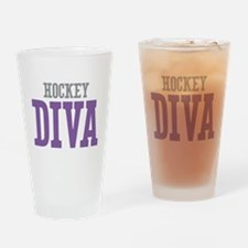 Hockey DIVA Drinking Glass