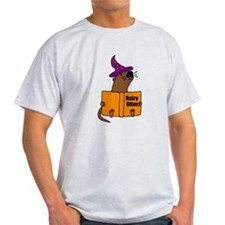 Otter Reading Magician Book T-Shirt