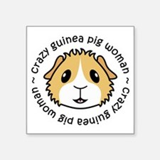 Crazy Guinea Pig Woman Sticker