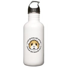Crazy Guinea Pig Woman Sports Water Bottle