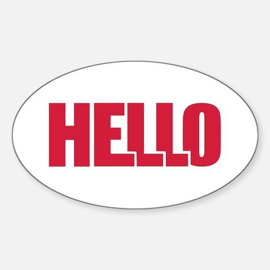 Hello Sticker (Oval)