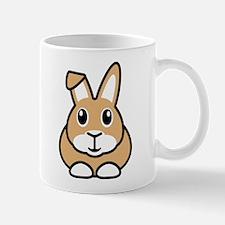 Brown Rabbit Design Small Mug