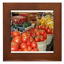 Granville Island Farmers Market: Ripe Reds Framed