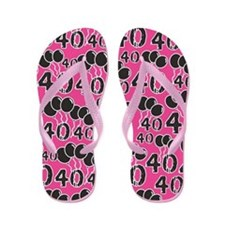 Pink 40th Birthday Gag Gift Flip Flops