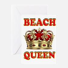 BEACH QUEEN Greeting Card