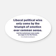No Sense Liberals Oval Car Magnet