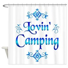 Lovin Camping Shower Curtain