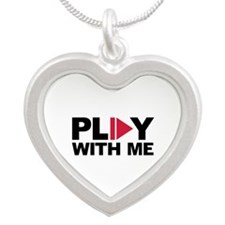 Play with me music Silver Heart Necklace