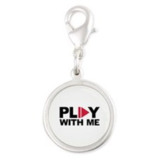 Play with me music Silver Round Charm