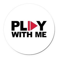 Play with me music Round Car Magnet